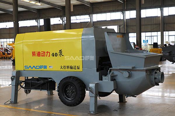 40柴油大骨料混凝土输送泵